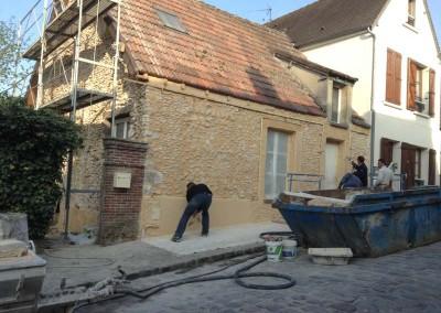 DB Créa Ravalement d'un mur en pierre Rambouillet 78